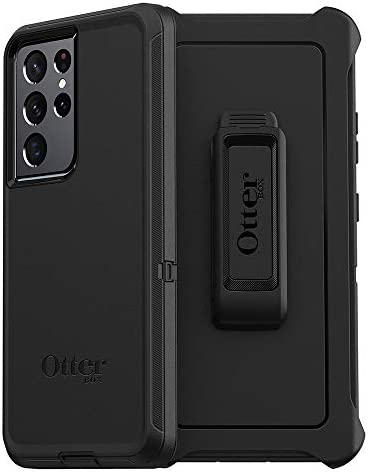 OtterBox DEFENDER SERIES SCREENLESS EDITION Case for Galaxy S21 Ultra 5G BLACK product image