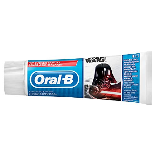 Oral-B Junior Disney Star Wars Zahncreme, Ab 6 Jahren, Milde Minze, 75ml