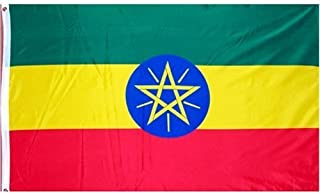 DANF Ethiopia Flag 3ftx5ft Ethiopic Ethiopian National Flags Polyester with Brass Grommets 3x5 Foot Flag