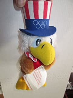Uncle Sam the Olympic Eagle Vintage 1980 Wallace Berrie & Co Souvenir Plush Stuffed Animal Toy - Official Mascot of the 1984 Los Angeles Olympics Games