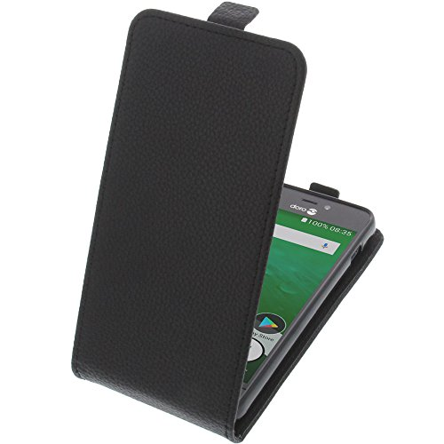foto-kontor Tasche für Doro 8035 Smartphone Flipstyle Schutz Hülle schwarz