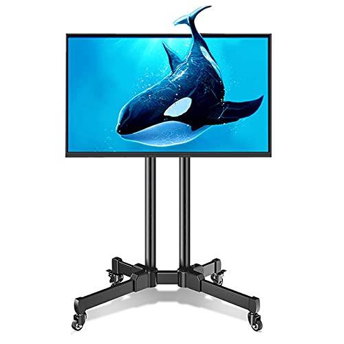 Soporte TV Trole Soporte de Suelo para TV con Ruedas para Televisores LCD LED de 32-65 Pulgadas, Soporte de Carro de TV Ajustable en Altura con Ruedas, Base de TV para El Hogar/Negocio