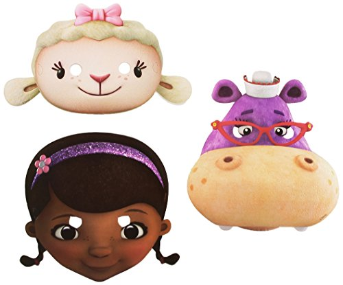Disney Amscan International Doc McStuffins Lot de 6 Masques Accessoire de fête