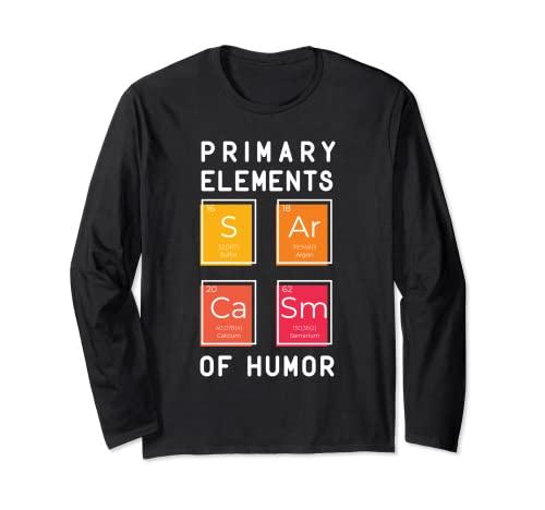 Sarcasm Elements - Tabla de regalo de periodo de química divertida Manga Larga