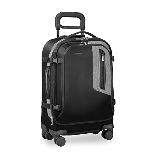 Briggs & Riley BRX-Explore Softside Expandable Carry-On Spinner Luggage, Black
