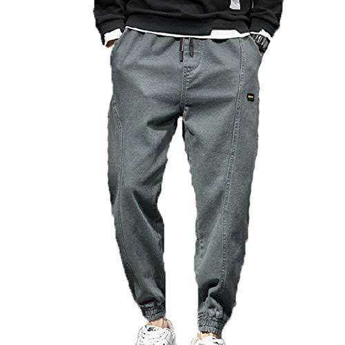 Generic11 Pantalones de Hombre, Casuales, cómodos, con Cintura elástica, Pantalones Harem para Uso Salvaje, Pantalones Sueltos para Correr, Resistentes al Desgaste