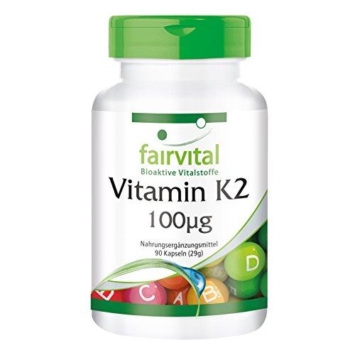 Vitamina K2 100µg - Menaquinona MK-7 Natural - Procedente de Natto fermentado - Menaquinona MK-7 - VEGANA - Dosis elevada - 270 Cápsulas (90 x 3) - Calidad Alemana