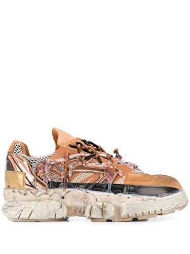 Moda De Lujo | Maison Margiela Hombre S57WS0257P3260H8049 Marrón Cuero Zapatillas | Temporada Outlet