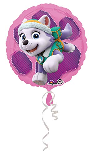 amscan 3408801 Folienballon Paw Patrol Skye & Everest, Mehrfarbig