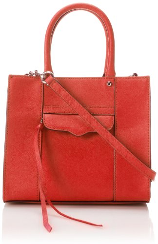 Rebecca Minkoff Saffiano Mab Tote Mini Cross Body Bag,Scarlet,One Size