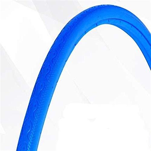 11 Colores Ciclismo Neumático Sólido Muerto 700C X 23C Engranaje Fijo Inflado De Neumático Sólido Neumáticos De Bicicleta Nunca Planos para Neumáticos De Bicicleta De Carretera (Tamaño: Azul)