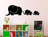 JJHR Wandtattoos Wandaufkleber DREI Elefanten Babyaufkleber Wandaufkleber Kinderzimmer Babyzimmer Kindergarten Wandaufkleber 57 * 18Cm