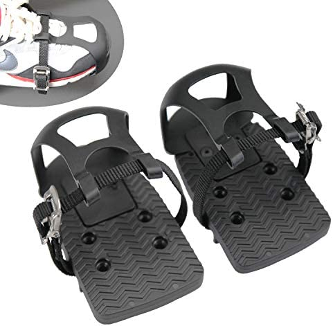 Adjustable Pedal Adapter Plastic Pedals Toe Clips Cage with Straps for Peloton Bike And Peloton product image