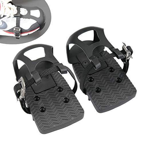 Adjustable Pedal Adapter Plastic Pedals Toe Clips Cage with Straps for Peloton Bike And Peloton Bike +