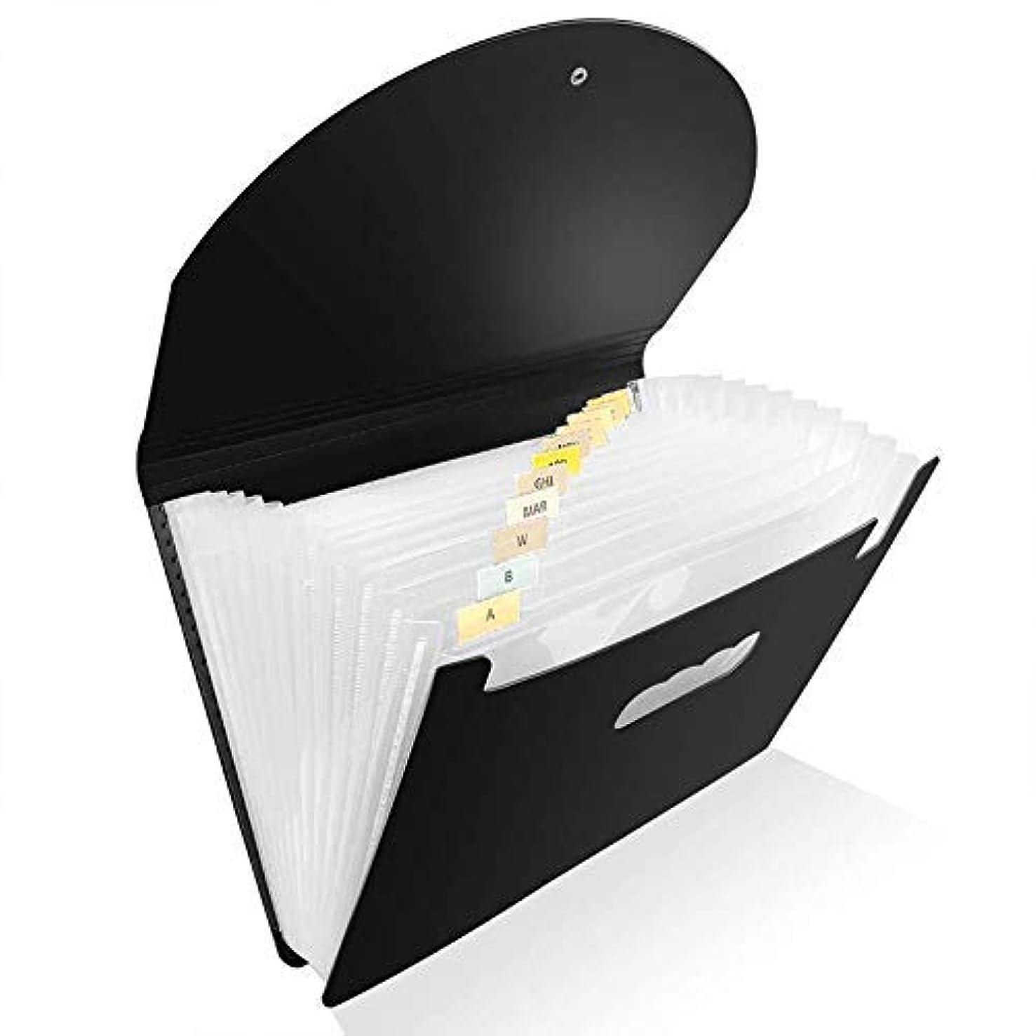 民主党アパルローストファイルフォルダ主催、ホームスクールオフィス用ヘビーデューティ拡大ファイルの財布、A4サイズ、ブラック APcjerp