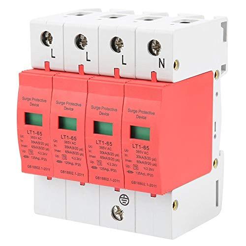 Diyeeni Überspannungsableiter 220/385V 4-polig, Dreiphasen Vierleiter Überspannungsschutz für Stromversorgung, Reaktionszeit Weniger als 25ns