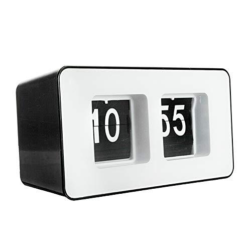 Qwead Pared Retro Auto Flip Oficina Reloj Rectángulo Alarma Escritori
