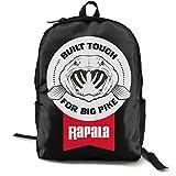 Mochila Rapala para el día a día para la escuela, el trabajo y la universidad, mochila deportiva y mochila escolar con compartimento para portátil y acolchado en la espalda