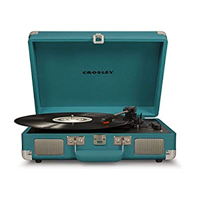 Crosley Cruiser Deluxe Portable Turntable (Teal)
