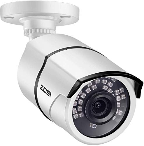 ZOSI ZG2615D 5MP PoE Security IP Camera Waterproof Bullet Camera with Night Vision for Outdoor Indoor Power Over Ethernet Surveillance System,ONLY Work with ZOSI POE NVR(Model: ZR08EN00/10/20)