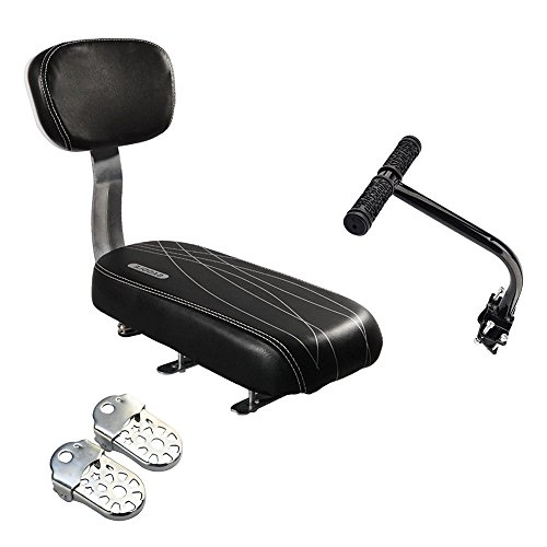Shayson Fahrrad-Rücksitz-Zubehör-Set, Kindersicherheit, Fahrrad-Rücksitzpolster, Armlehne, Fußstütze, Set für Mädchen, Freundin, Frau, Mann Kind