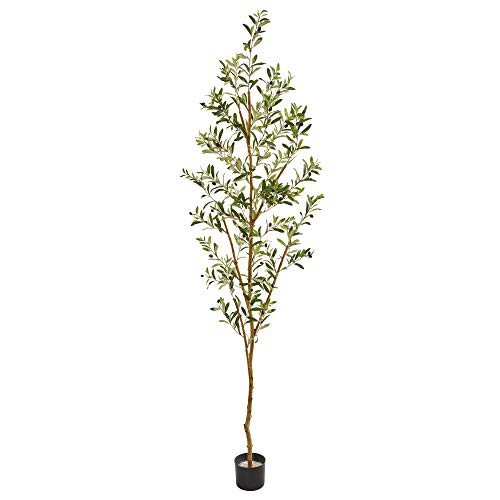 """Nearly Natural 82"""" Olive Artificial Silk Trees Green"""
