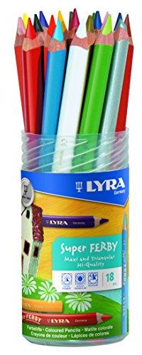 LYRA Super Ferby Verschließbare Runddose mit 18 Farbstiften, Sortiert