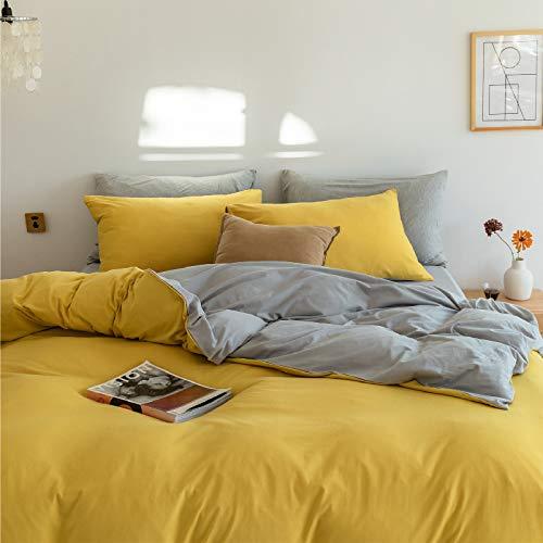 IKITOBI Sábanas de cama para cama de matrimonio de 1,5 m (funda de edredón de 200 x 230 cm)