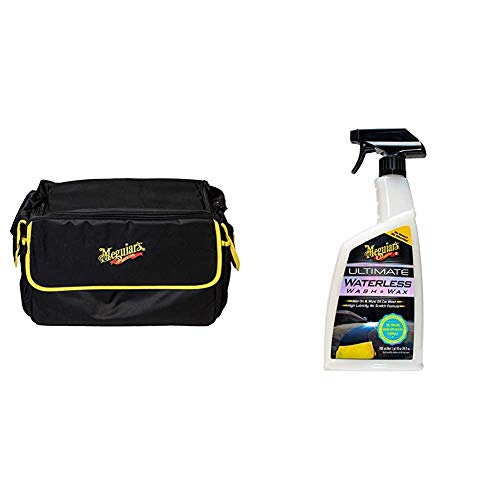 Meguiar's ST025 Kit Bag Large Tragetasche, schwarz & G3626EU Ultimate Waterless Wash & Wax Trockenwäsche, 768ml