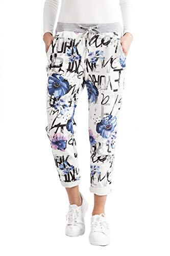 Damen Sweatpants Baggy Boyfriend-Style Jogginghose Freizeithose Sport und Fitness (Style 11, 42-46)