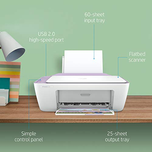 HP Deskjet 2331 Colour Printer, Scanner and Copier for Home/Small Office, Compact Size, Reliable, and Printing, Easy Set-Up Through HP Smart App On Your Pc Connected Through USB