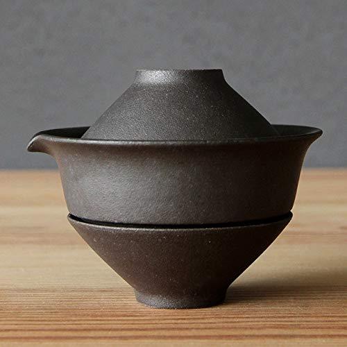 1 Juego de Tazas de té japonesas de cerámica, vajilla de Viaje portátil, Taza de té de Kung Fu, 1 Olla, 2 Tazas, vajilla Vintage para Oficina en casa, Gaiwan