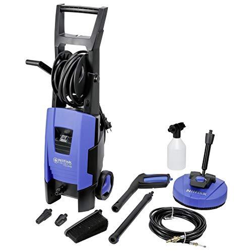 Nilfisk C 135 bar C-PG 135.1-8 XTRA PAD Hochdruckreiniger für Haushalt, Außenbereich, Autowäsche und Gartenarbeiten – inklusive Terrassenreinigungsset – 1800-W-Induktionsmotor, 230 V (blau)