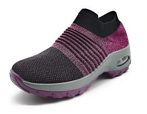 Zapatillas Deportivas Mujer Calcetin Elasticas sin Cordones Muy Comodas Transpirable Antideslizante para Correr Andar Trabajar…