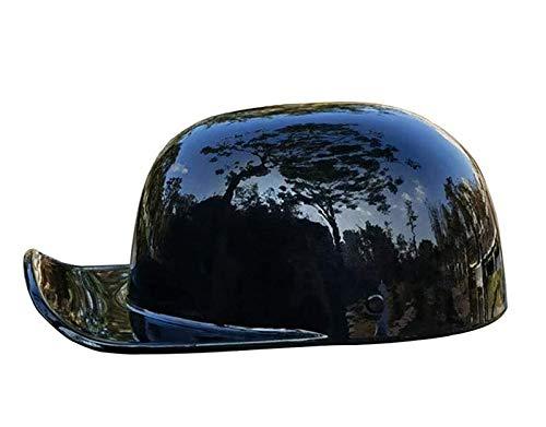 Casco de moto Adultos Gorra de béisbol con ciclomotor Cascos de moto de cara abierta Certificado ECE/DOT Medio casco retro para scooter Hombres y mujeres 1,L=56-58CM