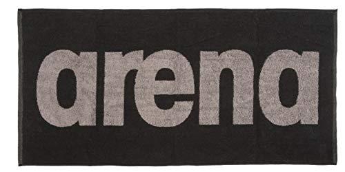 Arena Gym Soft Towel - Toalla Unisex (Talla única), Color Negro y Gris