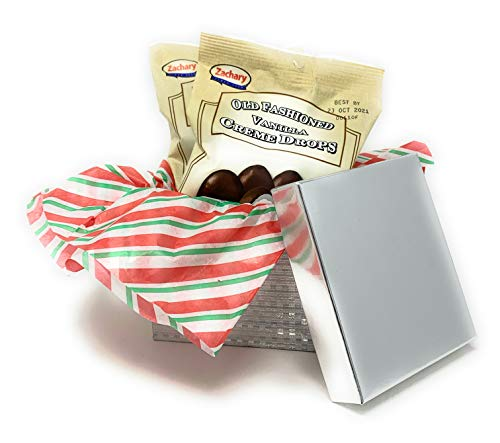 Old Fashioned Vanilla Creme Drops in Gift Box l Favorite Christmas Candy l Contains 2 Packages (8 oz. each) Zachary Chocolates