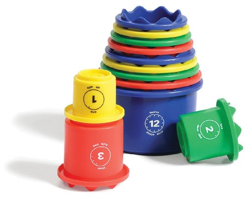 Discovery Toys Measure UP! Cups | Educational Stacking & Nesting 12 Piece Numbered Set| Kid-Powered Learning | STEM Toy Early Math Childhood Development 12 Months and Up