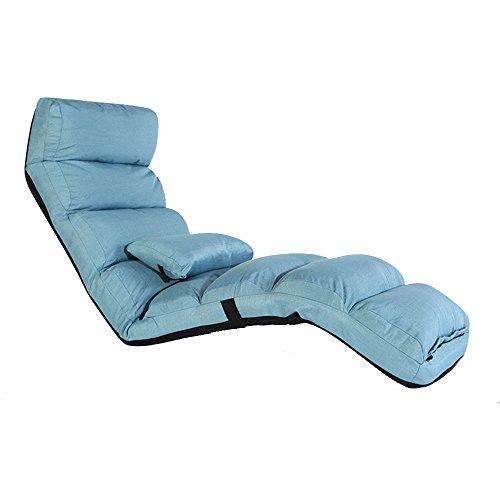 Fauteuils inclinables Feifei Canapé Paresseux Multi-Vitesse Réglage Pliable Unique Chaise Lavable Tissu inclinable canapé Chaise Salon Chambre Balcon Chaise Longue Pliant (Couleur : Lake Blue)