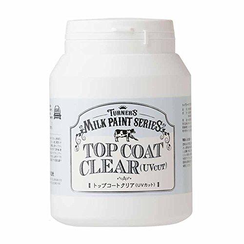 ターナー色彩 メディウム ミルクペイント トップコートクリア(UVカット) MK450105 450ml