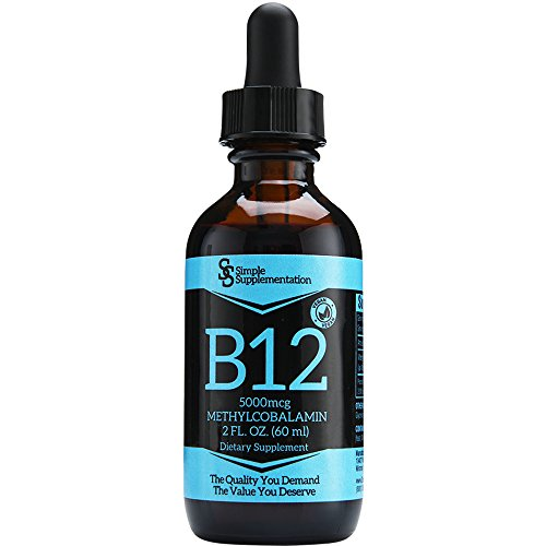 Top Quality Vitamin B12 Drops for Less - A Full 60 Servings x 5000mcg - Sublingual Methylcobalamin Liquid - Vegan - Organic - Alcohol-Free - Boost Energy & Metabolism - Feel Your Best - USA