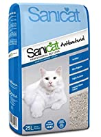SANICAT ANTIBACTERIAL WHITE CAT LITTER 25L NON CLUMPING CAT LITTER ULTRA HYGIENIC- FIGHTS BACTERIA OFFERS SUPERIOR ODOUR CONTROL ULTRA ABSORBENT SANICAT ANTIBACTERIAL---SANICAT ANTIBACTERIAL IS A PREMIUM LIGHTWEIGHT CAT LITTER, WHICH CONTAINS UNIQUE ...