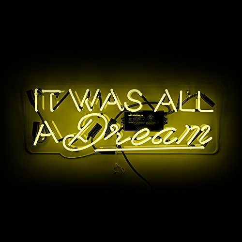 Oliver Gal Olivergal 'It Was All a Dream' Neon Sign, 26.0x11.0x6.0, Yellow