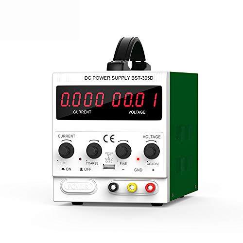 QWERTOUY 30V 5A DC-Stromversorgung High Precision Digital Display Schaltlaborstromversorgung Telefon Reparatur Spannungsregler