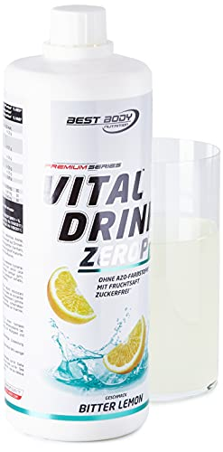 Best Body Nutrition Vital Drink ZEROP - Bitter Lemon, Original Getränkekonzentrat Sirup zuckerfrei, 1:80 ergibt 80 Liter Fertiggetränk, 1000 ml
