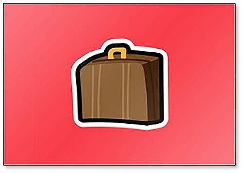 Cartoon Illustratie met koffer voor Reist Koelkast Magneet
