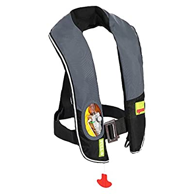 Eyson Inflatable Life Jacket Life Vest Highly Visible Automatic (716Grey)