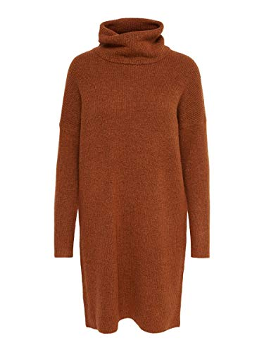 ONLY Damen Strickkleid Langes MGinger Bread