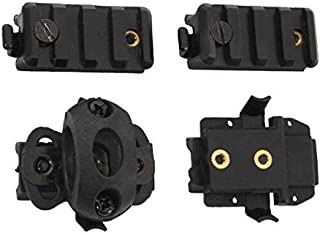 H World ShoppingTactical Helmet Accessories Airsoft 3/4'' Flashlight Clamp Holder fit FAST Helmet Side Rail