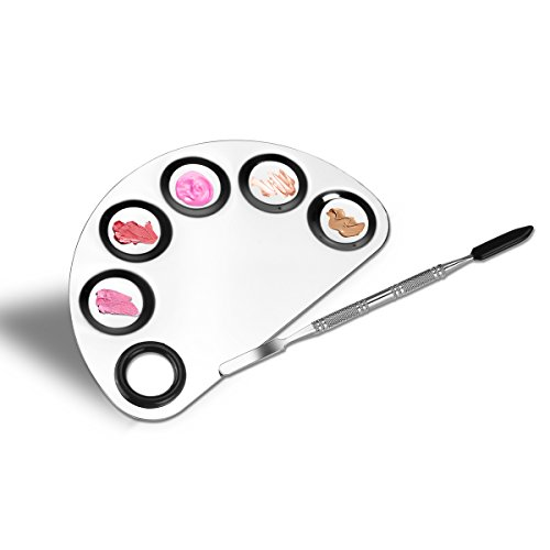 PIXNOR Makeup Palette Nail Art Polish Mixing Plate Stainless...
